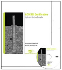 ACI-CP-80PACK: Adhesive Anchor Installer Workbook with Companion DVD