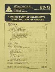 AI-ES-12 Asphalt Surface Treatments: Construction Techniques