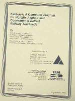 AI-RR-84-1 Kentrack: A Computer Program for Hot Mix Asphalt and Conventional Ballast Railway Trackbeds