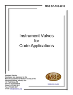 MSS-SP-105-2010 Instrument Valves for Code Applications