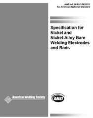 AWS- A5.14/A5.14M:2011 Nickel and Nickel-Alloy Bare Welding Electrodes and Rods