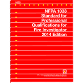 NFPA-1033(14): Standard for Professional Qualifications for Fire Investigator