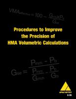 AI-IS-210 Procedures to Improve the Precision of Hot Mix Asphalt (HMA) Volumetric Calculations