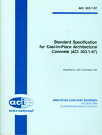 ACI-303.1-97: Standard Specification for Cast-in-Place Architectural Concrete