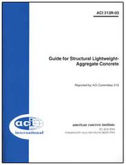 ACI-213R-03: Guide for Structural Lightweight-Aggregate Concrete