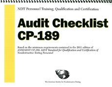 ASNT-0210 2012 NDT Personnel Training, Qualification and Certification — Audit Checklist 2011 CP-189