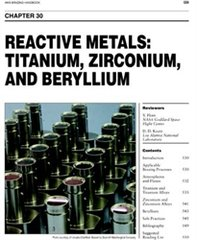 AWS- BHC30 - Reactive Metals: Titanium, Zirconium, and Berylium