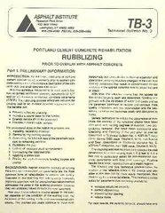 AI-TB-3 Rubblizing Prior to Overlay with Asphalt Concrete: Portland Cement Concrete Rehabilitation