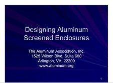 AA-DASE Designing Aluminum Screened Enclosures