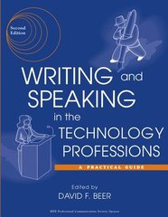 IEEE-44473-2 Writing and Speaking in the Technology Professions: A Practical Guide, 2nd Edition