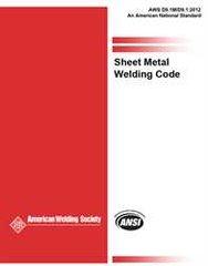 AWS- D9.1M/D9.1:2012 Sheet Metal Welding Code