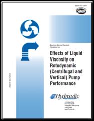 HI-B131 ANSI/HI 9.6.7-2010 Effects of Liquid Viscosity on Rotodynamic (Centrifugal and Vertical) Pump Performance