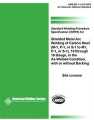 AWS- B2.1-1-012:2002(R2013) SWPS for Shielded Metal Arc Welding of Carbon Steel,(M-1, P-1, or S-1 to M-1, P-1, or S-1)