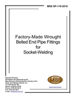 MSS-SP-119-2010 Factory-Made Wrought Belled End Pipe Fittings for Socket-Welding