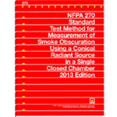 NFPA-270(13): Standard Test Method for Measurement of Smoke Obscuration Using a Conical Radiant Source in a Single Closed Chamber