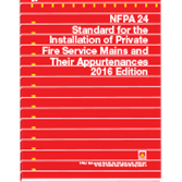 NFPA-24(16): Standard for the Installation of Private Fire Service Mains and Their Appurtenances (NFPA 24)