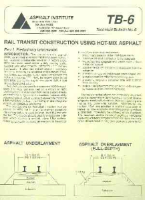 AI-TB-6 Rail Transit Construction Using Hot Mix Asphalt