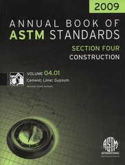 ASTM Standards, Annual Book, Volume 04.01-2009, Cement; Lime; Gypsum