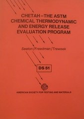ASTM-DS51 CHETAH - The ASTM Chemical Thermodynamic and Energy Release Evaluation Program