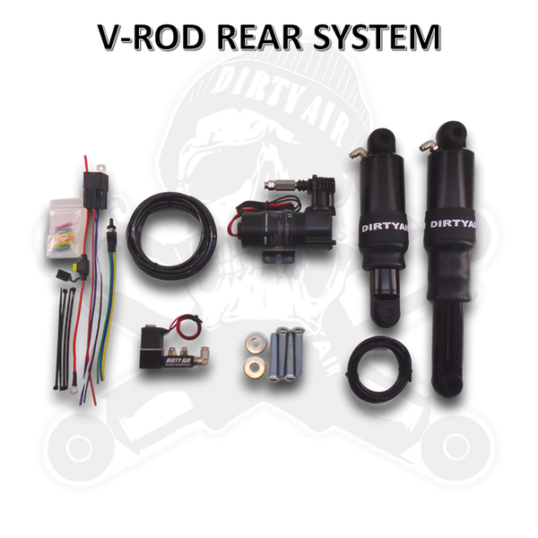 DIRTY AIR V-Rod Night Rod Rear Air Suspension System
