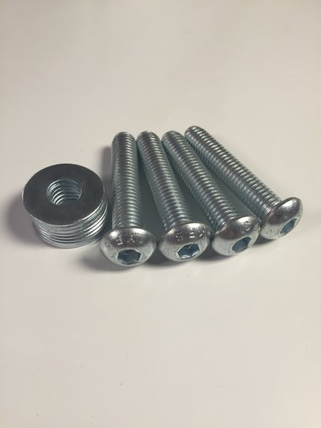 SHOCK BOLTS AND WASHERS - Silver zinc button head