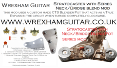Stratocaster Strat with Series Neck/Bridge Blend Pot Wiring Kit