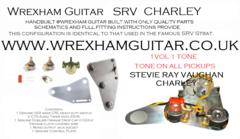 Srv Stevie Ray Vaughan Charley Wiring Kit 1 Vol 1 Tone Pot
