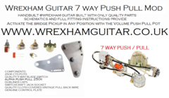 7 WAY DELUXE STRATOCASTER STRAT WIRING KIT PUSH PULL POT