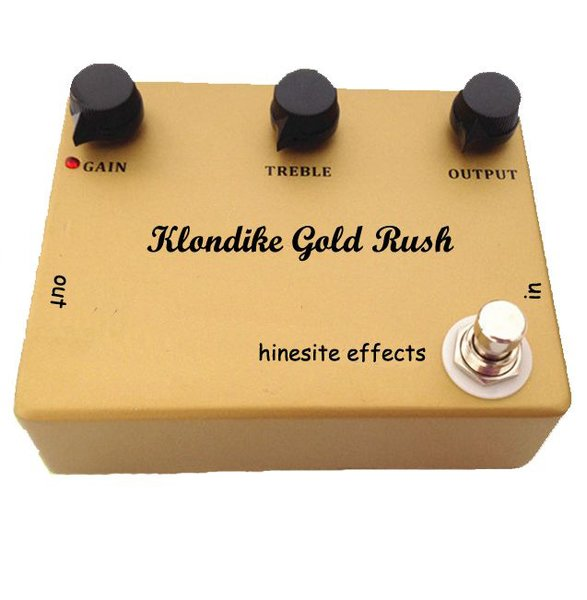 HINESITE KLONDIKE GOLD RUSH EFFECTS PEDAL STOMPBOX