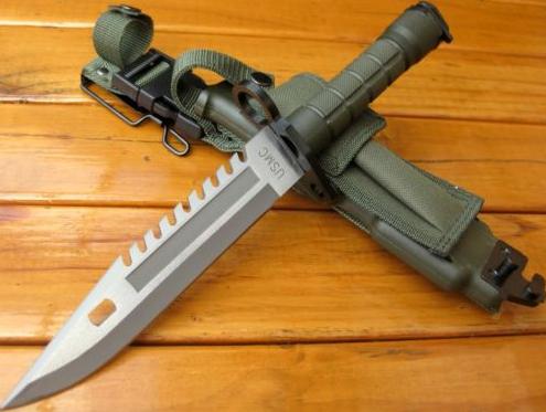 Usmc M16 M9 Bayonet Special Ops Od Green Bayonet Sw3g