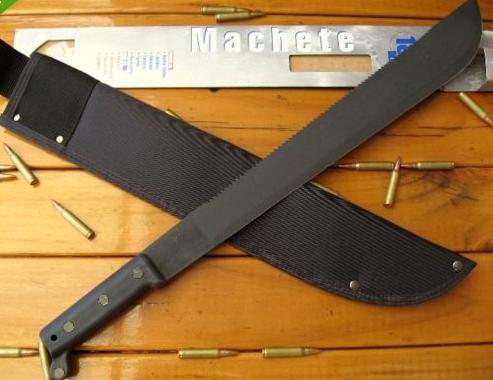 Ontario U S A Heavy Duty Sawback Machete Sheath Fixed