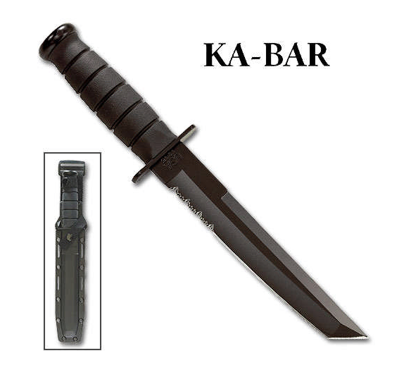 Ka Bar Kabar Black Tanto Ka1245 Kydex Usa Blade Army