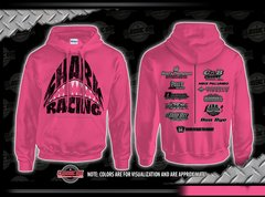Shark Attack Ladies Pink Hoodie
