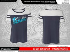 Logan Schuchart Ladies Blue T-Shirt