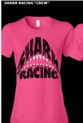 Shark Attack Ladies Pink T-Shirt