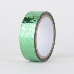 Decorative Tape, Holographic, Green Star, SKU: DT150164