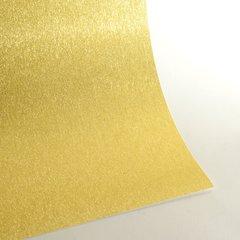 "Satin Glitter Sticky Paper, 12"" x 12"" x 1 sheet, Satin Champagne Gold, SKU# GTS-1212112"