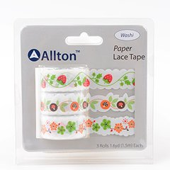 Paper Decorative Tape, Lace, SKU: TPB180035