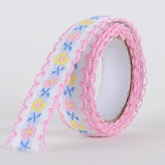 Fabric Decorative Tape, Embroidered, SKU: EM002