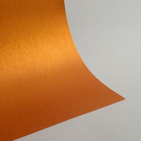"""Satin Glitter Sticky Paper, 6"""" x 9"""" x 5 sheets, Satin Orange, SKU# GTS-203"""