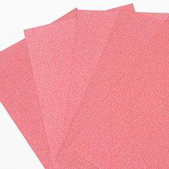 "Ultra Fine Glitter Sticky Paper, 6"" x 9"" x 5 Sheets, Red, SKU# GT-148R"
