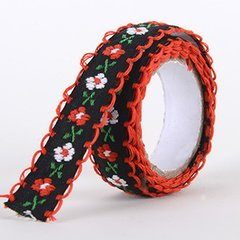 Fabric Decorative Tape, Embroidered, SKU: EM010