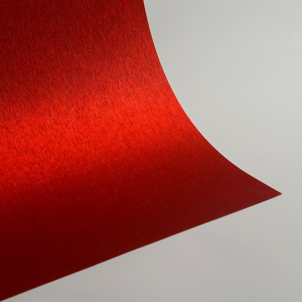 "Satin Glitter Sticky Paper, 12"" x 12"" x 1 sheet, Satin Red , SKU# GTS-1212107"