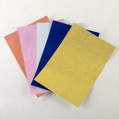 """Satin Glitter Sticky Paper, Mix Pack(3), 6"""" x 9"""" x 5 sheets, 5 color, SKU# GTS-208"""