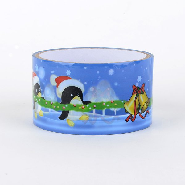 Christmas Gift Wrapping Tape, Santa Snowmen, SKU: DT480154