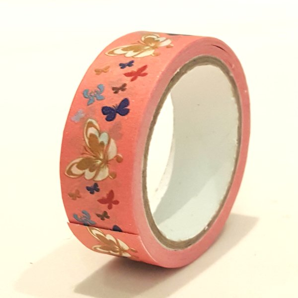 Washi Tape, Butterfly, Red, SKU: WT150170