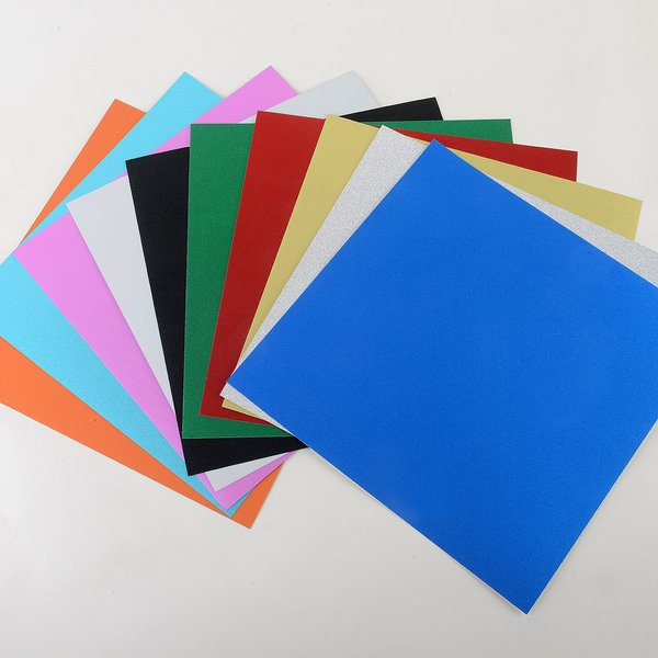 "Ultra Fine Glitter Sticky Paper Mix Pack(1), 12"" x 12"" x 10 sheets, SKU# GT-1212901-10"