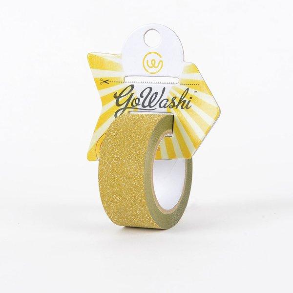 Go Washi Glitter Decorative Tape, Gold, 25mmx10m, SKU: GT-2510G