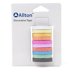 Glitter Decorative Tape, 10 Colors, SKU: TPH120028
