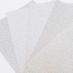 """Ultra Fine Glitter Sticky Paper, 6"""" x 9"""" x 5 Sheets, Silver, SKU# GT-148S"""